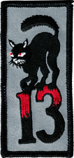 43009 Black Cat Lucky 13 Thirteen Punk Alt Tattoo Embroidered Sew Iron On Patch