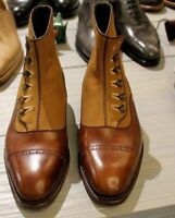 Men Latest Super Fine Button with Fabric & Italian Leather Boots botas de hombre
