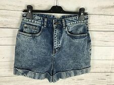 Womens River Island Denim Hot pants/Shorts - UK10 - Acid Wash - Great Condition