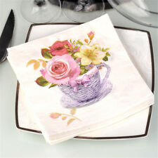 20pcs flower paper napkins food festive party tissue napkins decoupage decorvb