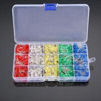 LED Light White/Yellow/Red/Blue/Green Assortment Diodes Kit DIY 500Pcs/box 5mm