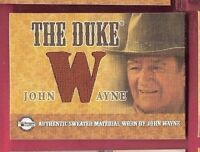 "JOHN WAYNE ""THE DUKE"" AUTHENTIC WORN SWEATER MATERIAL SWATCH RELIC CARD ""W"""