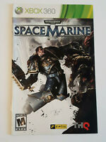 Space Marine Xbox 360 INSTRUCTION MANUAL ONLY ! excellent condition