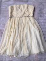 BNWOT Forever New Silk Dress Yellow Size 16