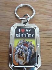 Key Chain - I LOVE MY YORKSHIRE TERRIER-  NOS metal