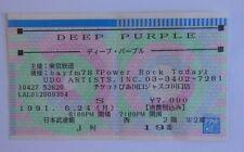 DEEP PURPLE TICKET   TOKYO 1991