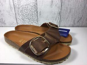 Birkenstock Madrid Big Buckle Tan Leather Mule Size 41 Uk 8 RRP £90