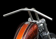 "10"" DROOP PULLBACK HANDLEBAR RISER BAR POLISHED STAINLESS HARLEY BOBBER CHOPPER"