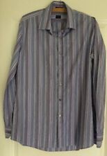 "Paul Smith London Striped Shirt 16"" Multi Coloured Blue Purple"