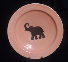 "Moroccan Handmade Glazed Terracotta Wall Hanging ELEPHANT Plate or Bowl 8-5/8"""