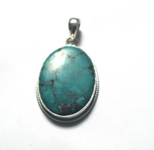 925 Sterling Silver Handmade Jewelry Pendant Natural Turquoise Gemstone Pendant