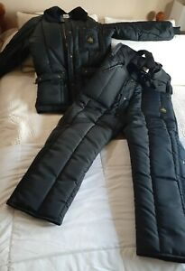 Refrigiwear Insulated Coat and bib snow pants XL navy blue MISSING POCKET COVER
