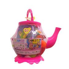 Large Plastic Teapot Toy Tea Set Role Play 25+1 pcs Kids Children