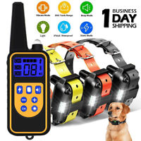 Dog Shock Training Collar Rechargeable LCD Remote Control Waterproof 2600 FT