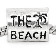 The Beach Shore Trip Vacation Palm Tree Bead for Silver European Charm Bracelets