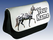 APPALOOSA HORSE / PONY PERSONALISED PENCIL CASE / MAKE UP BAG -GREAT NAMED GIFT