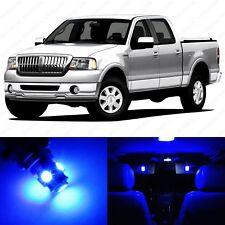 9 x Ultra Blue LED Interior Light Package For 2006 - 2008 Lincoln Mark LT