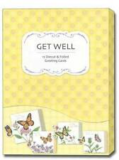 Petite Greetings Box of 12 Assorted Butterfly Get Well Cards by Studio Q