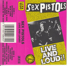 """K7 AUDIO (TAPE) SEX PISTOLS """"LIVE AND LOUD""""   1989  (MADE IN ENGLAND)"""
