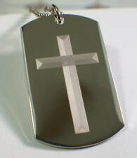PRAYER TO ST. MICHAEL, CROSS 2S DOG TAG NECKLACE STAINLESS STEEL