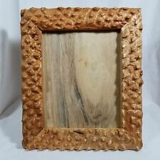 """8"""" X 10"""" PICTURE FRAME LOG CABIN RUSTIC CHRISTMAS MAPLE WOOD SIZE 11.5"""" X 13.5"""""""
