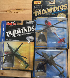 3 Heli Lot RARE🌟 MAISTO TAILWINDS US ARMY RAH-66 COMANCHE DIE CAST HELICOPTER