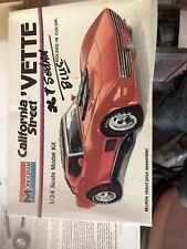 Monogram California Street Vette Junkyard Car With Instuctions And Box