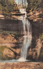 Illinois hand-colored postcard Starved Rock, Small Canyon, Deer Park