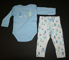 New Gymboree 2 Piece Outfit Wolf Bodysuit Top Forest Trees Pants Set Size 12-18M