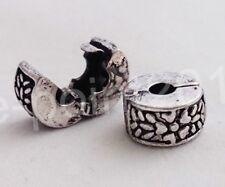 Bead Charm Stopper Clip Armband Perle Keltisch Bartperle Silber Blume Haarperle