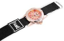 Damen Kinder Sport Armbanduhr Textil Klettband Klettverschluss Rosé/Schwarz/Weiß