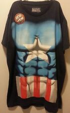 NEW MEN'S CAPTAIN AMERICA T-SHIRT SIZE M Marvel.com Avengers MUSCLE COSTUME