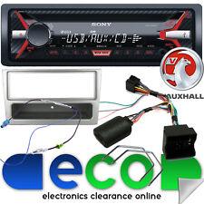 VAUXHALL Corsa C SONY CD MP3 USB CAR STEREO VOLANTE & KIT fascia d'argento