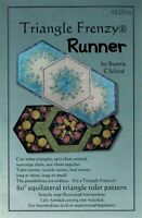 NEW UNCUT TRIANGLE FRENZY RUNNER by BUNNIE CLELAND SEWING PATTERN AED162