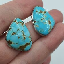 Sterling Silver Turquoise Cabuchon Earrings