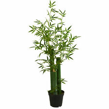 Green Bamboo Artificial Tree Home Decoration Nearly Natural 5' Realistic Plant