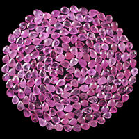 216 Pcs Natural Ruby Mozambique 3mm-3.5mm Pear Cut Pinkish Red Loose Gemstones