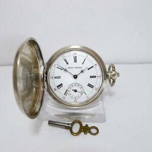 Antike Savonette Taschenuhr Silber der Marke Edward John Dent um ca. 1850