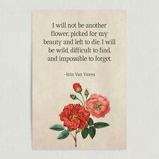 """ArtPrintJoy Erin Van Vuren Famous """"Wild"""" Quote Art Print 12 x 18"""" Wall Art"""