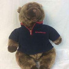 "AE Performance Bear Blue Sweater 17"" Plush Stuffed Animal Ships Free"