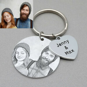 Personalized Photo Keychain Anniversary Picture Keychains Christmas Gift For Her