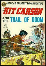 Kit Carson Trail Of Doom #5 1954 Golden Age Fine+ Condition AVON