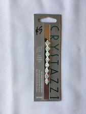 CRYSTAZZI Crystal Beads. Crystal AB, Oval. 8pc, 9 x 6mm. New Unused