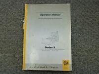JCB 214 215 217 Series 3 & Sitemaster Backhoe Loader Owner Operator Manual