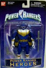 """Power Rangers ZEO Blue 5"""" Ranger automorphin New Heroes Series 4 Factory Sealed"""