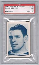 1952 Junior Blue Tint Hockey Card Kitchener-Waterlooo G. Boisvert Graded PSA 7
