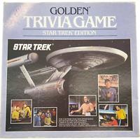 Vintage 1985 Golden Star Trek Trivia Game Trivial Pursuit Cards Questions Board