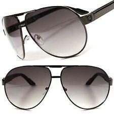Air Force Style Designer Fashion Sexy Oversized Mens Womens Gunmetal Sunglasses