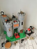 Vintage Fisher Price Castle With 11 Knights And Cannon