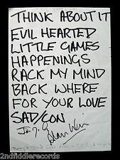 THE YARDBIRDS- Rare Autographed Concert Setlist